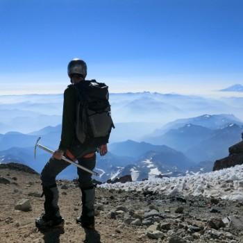 Rob Looking at Mt Adams