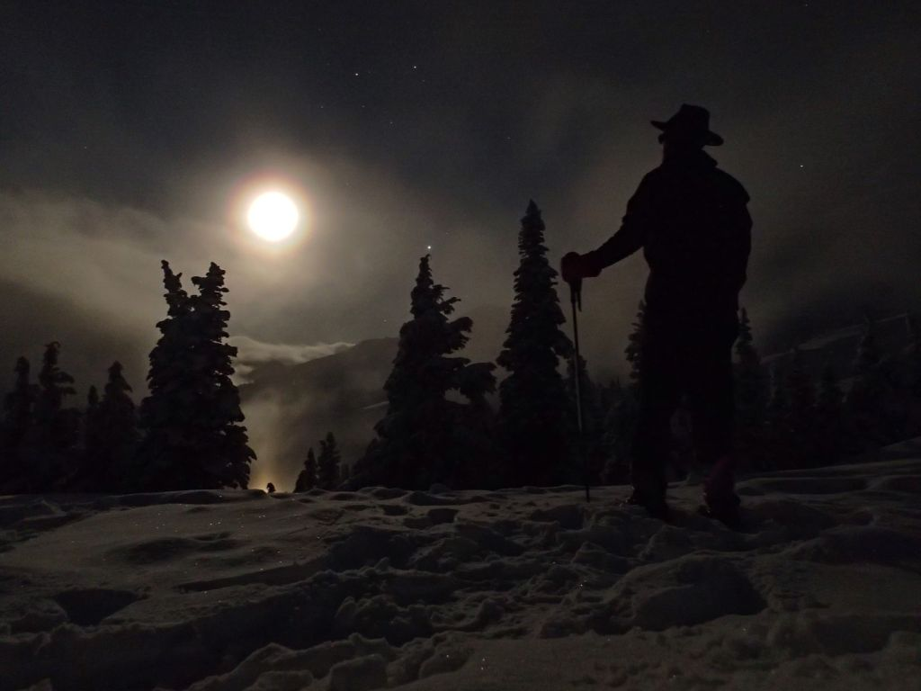 This moonlight scene was shot as the weather was clearing.