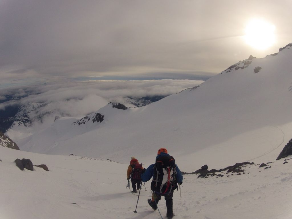 The climb down from Ingraham Glacier was very picturesque