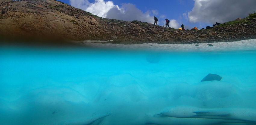 Underwater Glacial Pool Photo