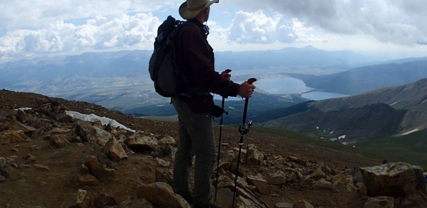 Standing on the Mt Elbert Summit