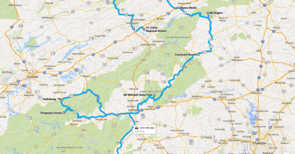 SouthEastern Trip: 5 State Highpoints in 7 Days