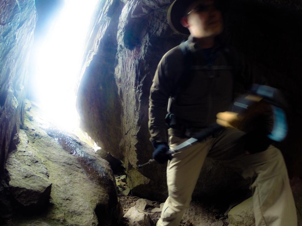 Mt Rogers VA Rock Tunnel
