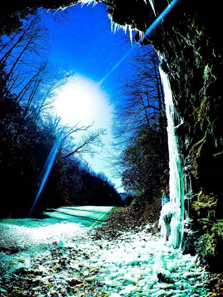 Mt Mitchell NC Icy Tunnel