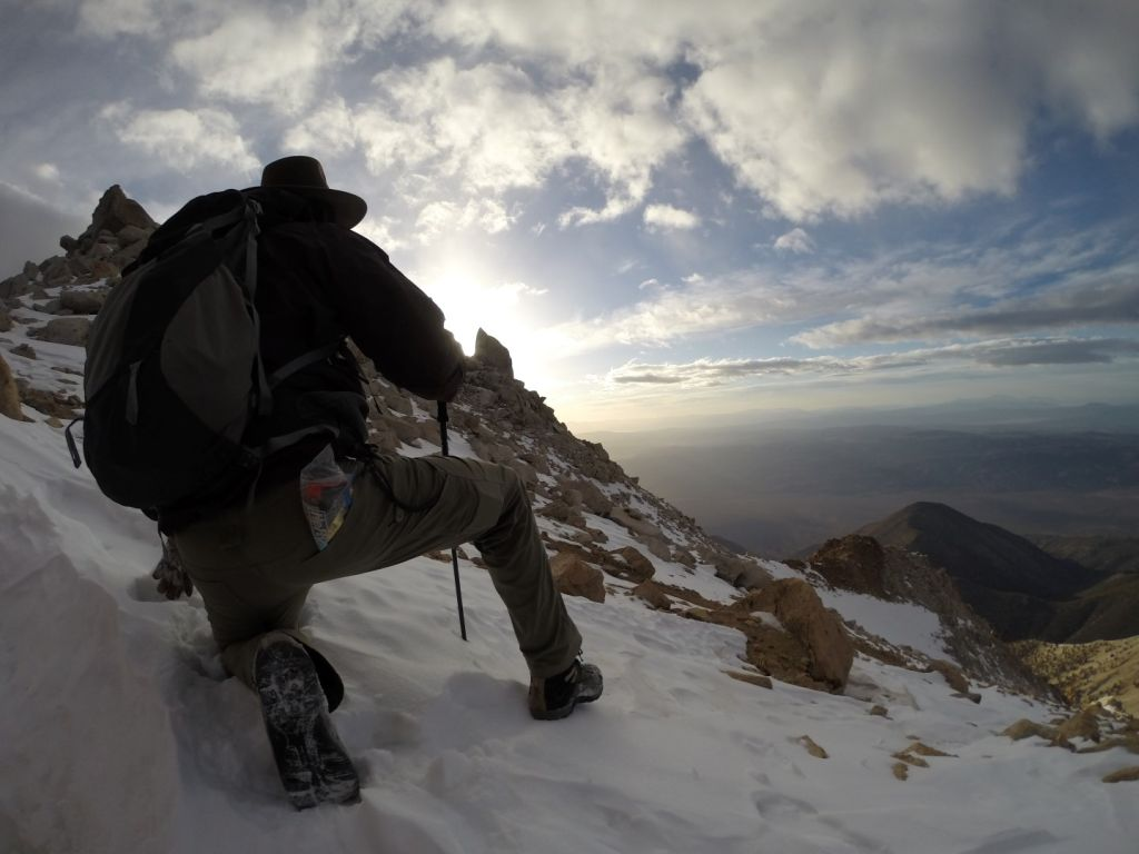 Boundary Peak Nevada - Jutting Rocks