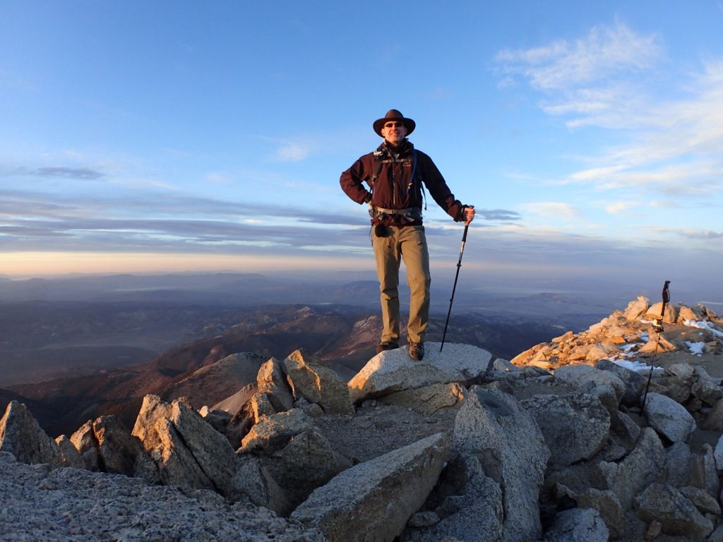 Boundary Peak - Robert Danger Byrd standing on Summit