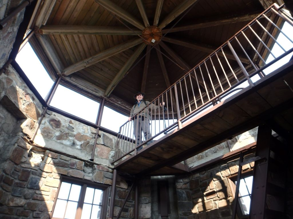 The top of South Dakota inside the Fire Tower.
