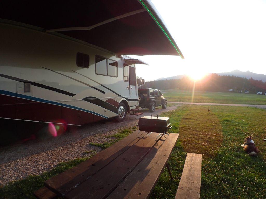 South Dakota Rafter J Campground Table