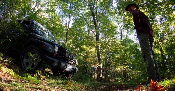 Standing on Backbone Mountain Maryland