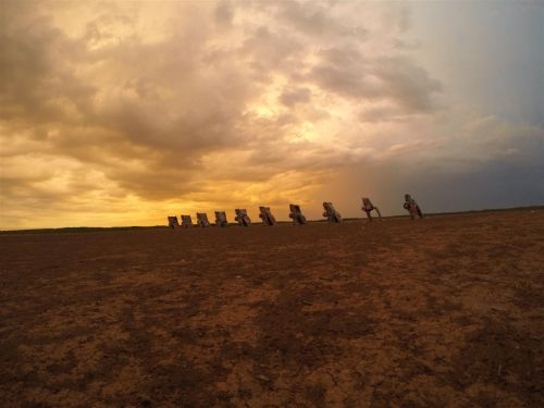 Last time I was at Cadillac Ranch sunrise and there was a storm coming