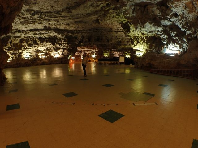 This massive natural room was used for parties and even to park cars at one point