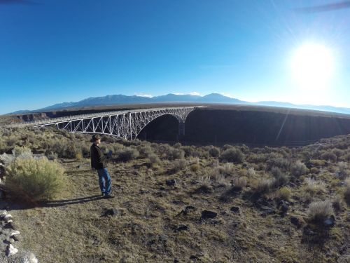Danger flying his 3DR Solo photography drone at the Rio Grande River Gorge Bridge