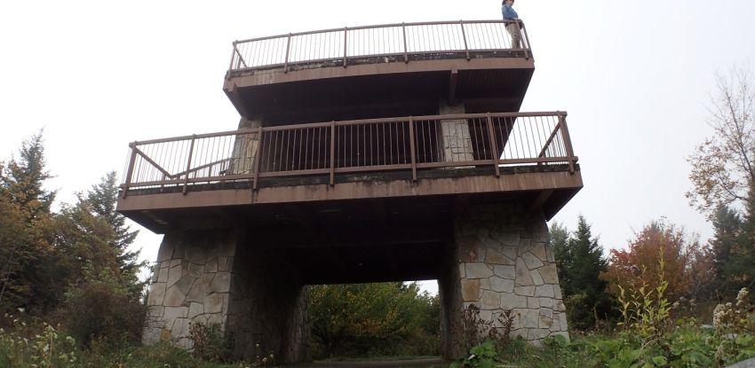 Standing on Spruce Knob Summit