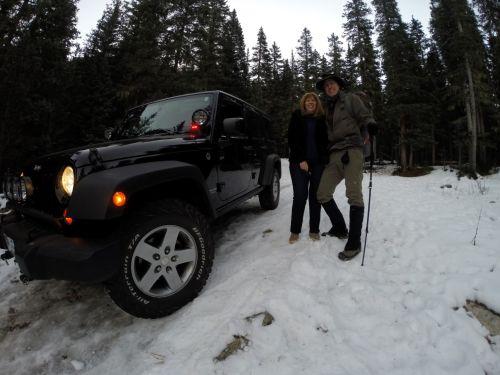 Susan & Robert at the difficult to reach Wheeler Peak Trailhead
