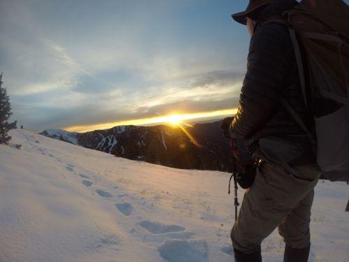 A fabulous mountain sunset