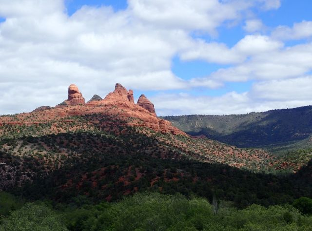 There were many amazing formations like this one around Sedona.