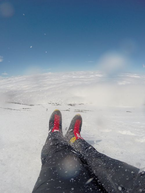 Glissading is a fun and fast way to descend a steep mountain.