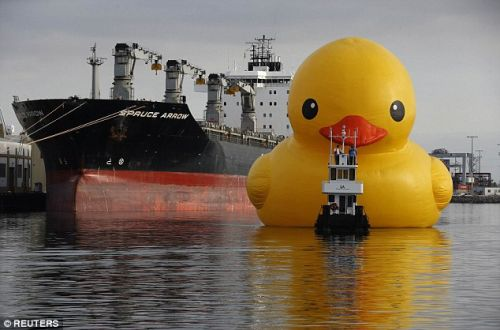 The giant rubber duck that caused all the trouble.