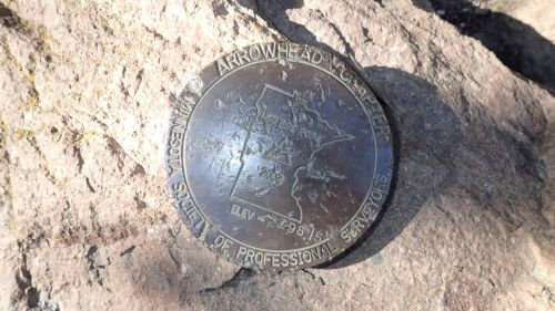 The summit USGS marker