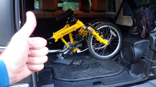 I decided to give the folding bike a try!