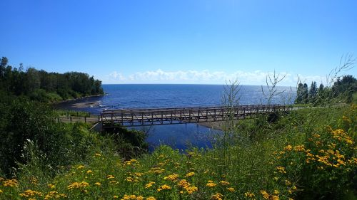 The drive along the shores of Lake Superior was pleasant, with many scenic areas along the way.