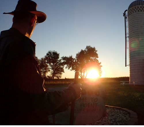 Silos and sunrises, a match made in heaven.