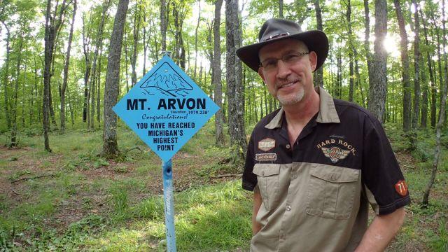 Danger at the Mount Arvon highpoint.