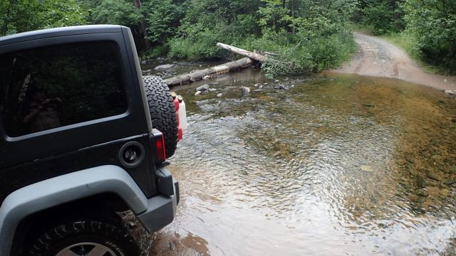 Another water crossing, no problem for the Jeep Rubicon.