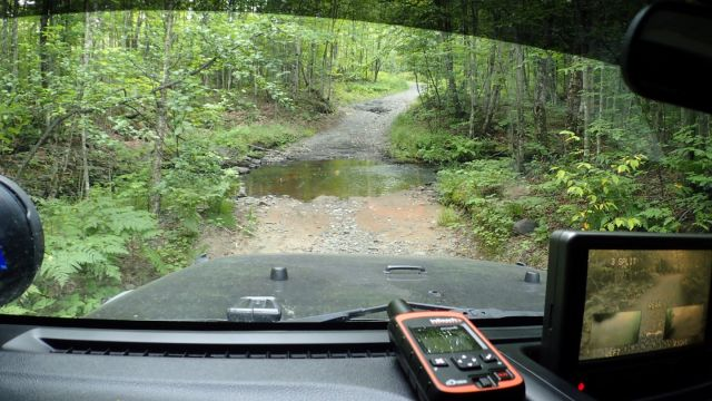 One of the water crossings along the way.