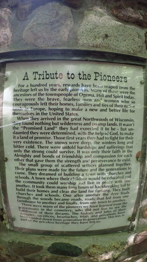 An interesting plaque near the parking lot.