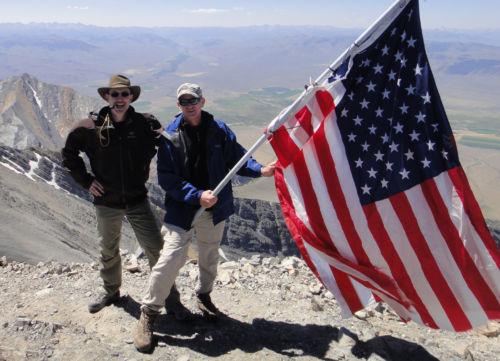 Danger and Rick standing on the 12,662' summit of Borah Peak