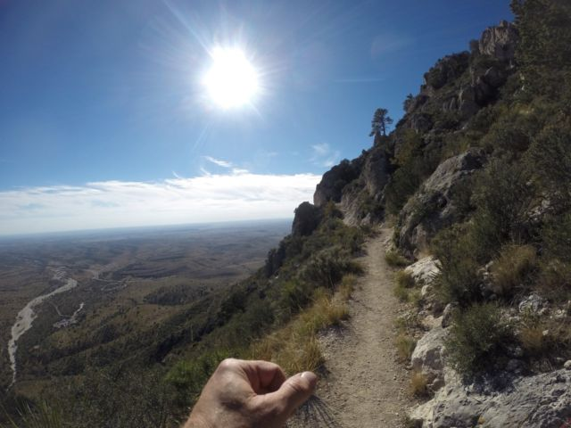 Much of the switchback style trail wound up the mountainside with a wonderful west Texas valley view.